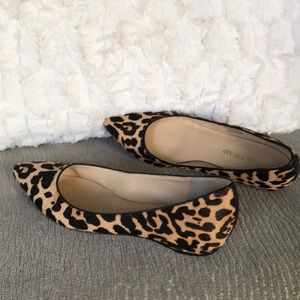 Ivanka Trump animal print calf hair flats